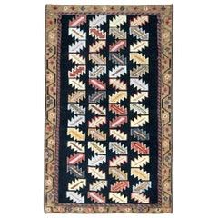 Mid-20th Century Handmade Persian Hamadan Small Throw Rug