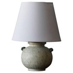 Upsala-Ekeby, Table Lamp, Earthenware, Sweden, 1930s