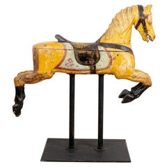 Painted 19th Century Antique American Carousel Horse