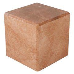 Pink Marble Cube Side Table