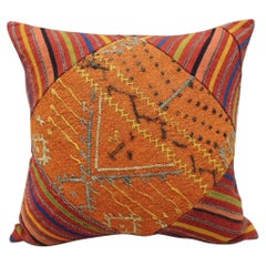 Vintage Cray-Patchwork Square Woven Decorative Pillow