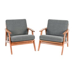 Pair of Danish Teak Easy Chairs