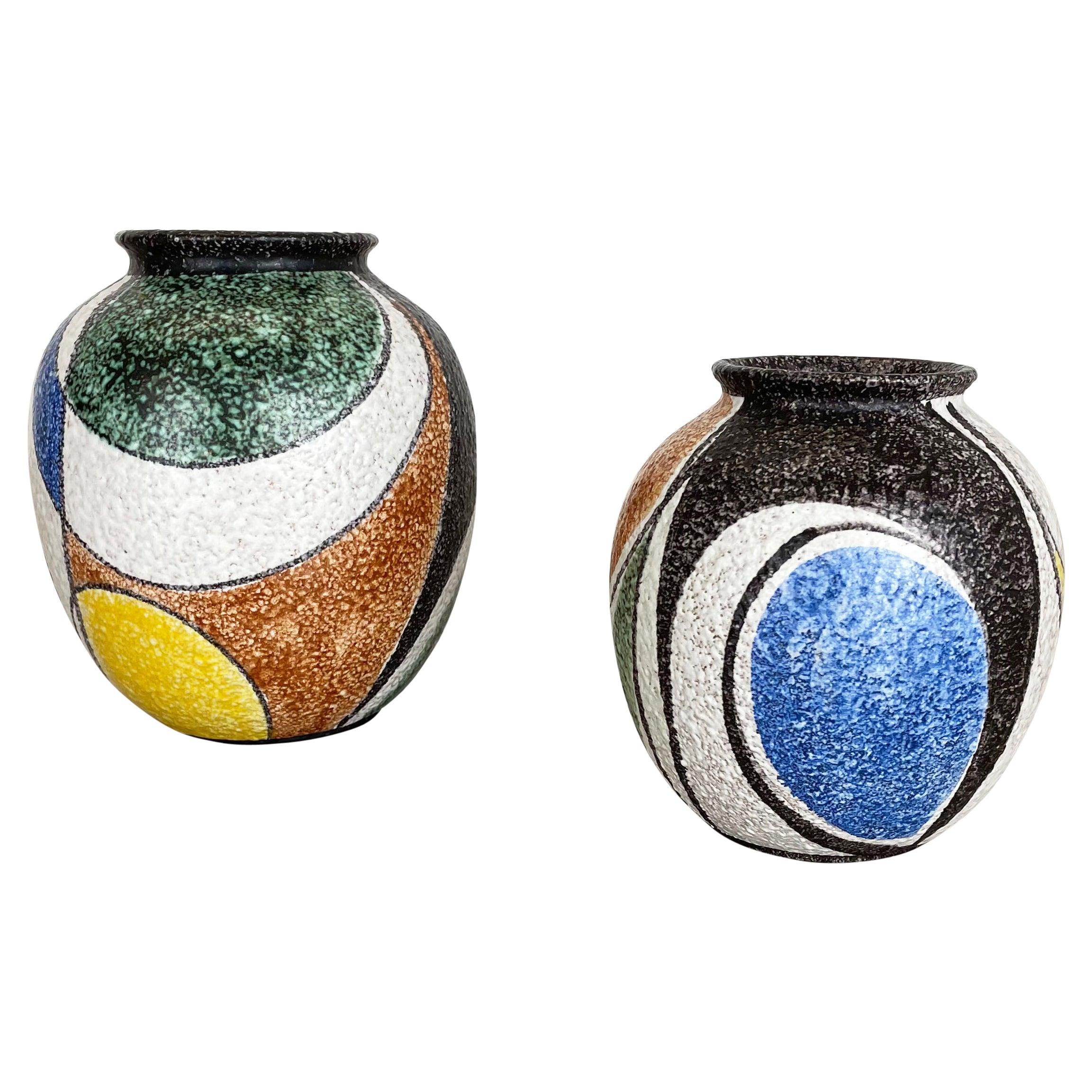 "Set of 2 Vases ""Milano"" Designed by Rudolf Schardt for Ruscha, Germany, 1950s"