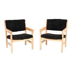 Pair of Hans Wegner for GETAMA Lamb's Wool Chairs