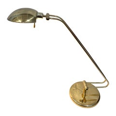 Postmodern Multidirectional Polished Brass Desk/Table Lamp