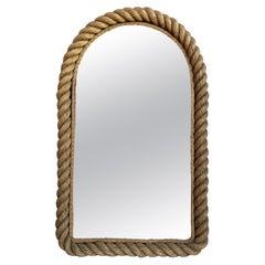 Large Rope Mirror Audoux Minet, circa 1960