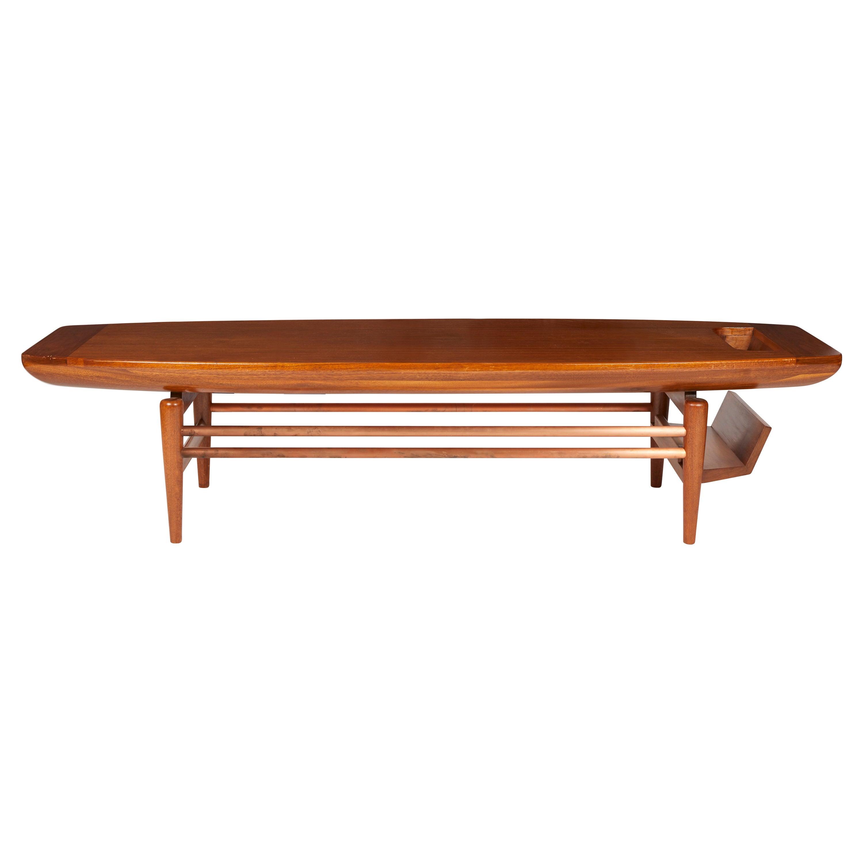 Mid-Century Modern Surfboard Coffee Table