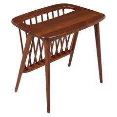 Arthur Umanoff Spindle Side Table with Magazine Rack for Washington Woodcraft