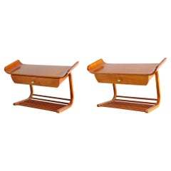 Pair of Midcentury Wall Mount Night Stands