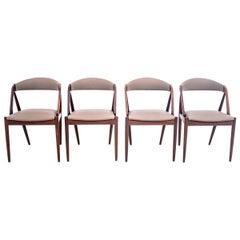 Four Kai Kristiansen Model 31 Teak Dining Room Chairs