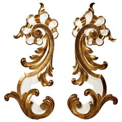 Pair of French Wood Carving Elements of the 18th Century