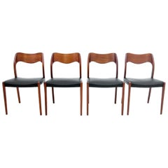 Four Chairs, Niels O. Møller, Denmark, 1960s