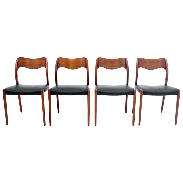 Four Chairs, Niels O. Møller, Denmark, 1960s For Sale