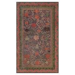 Vintage Chinese Bold, Botanic Silk Carpet
