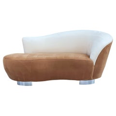 Mid Century Post Modern Curved Serpentine Cloud Sofa, Loveseat or Chaise Lounge