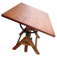 Mid Century Wood & Iron Hamilton Drafting Table C1955