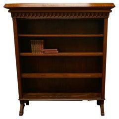 Arts & Crafts Large Golden Oak Open Bookcase