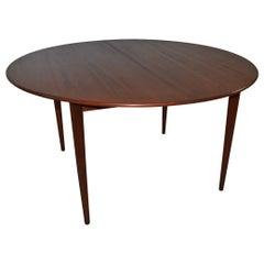 Modern Round Teak Table Grete Jalk for P. Jeppesens-Mobelfabrick