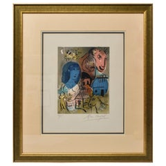 Hommage a by Marc Chagall Limited Edition Lithograph 32/75 1969