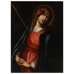 17th-18th Century the Holy Virgin Mary's Soul Being Pierced by a Sword