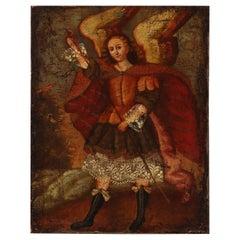 Cuzco School, 18th Century an Angel, Unsigned