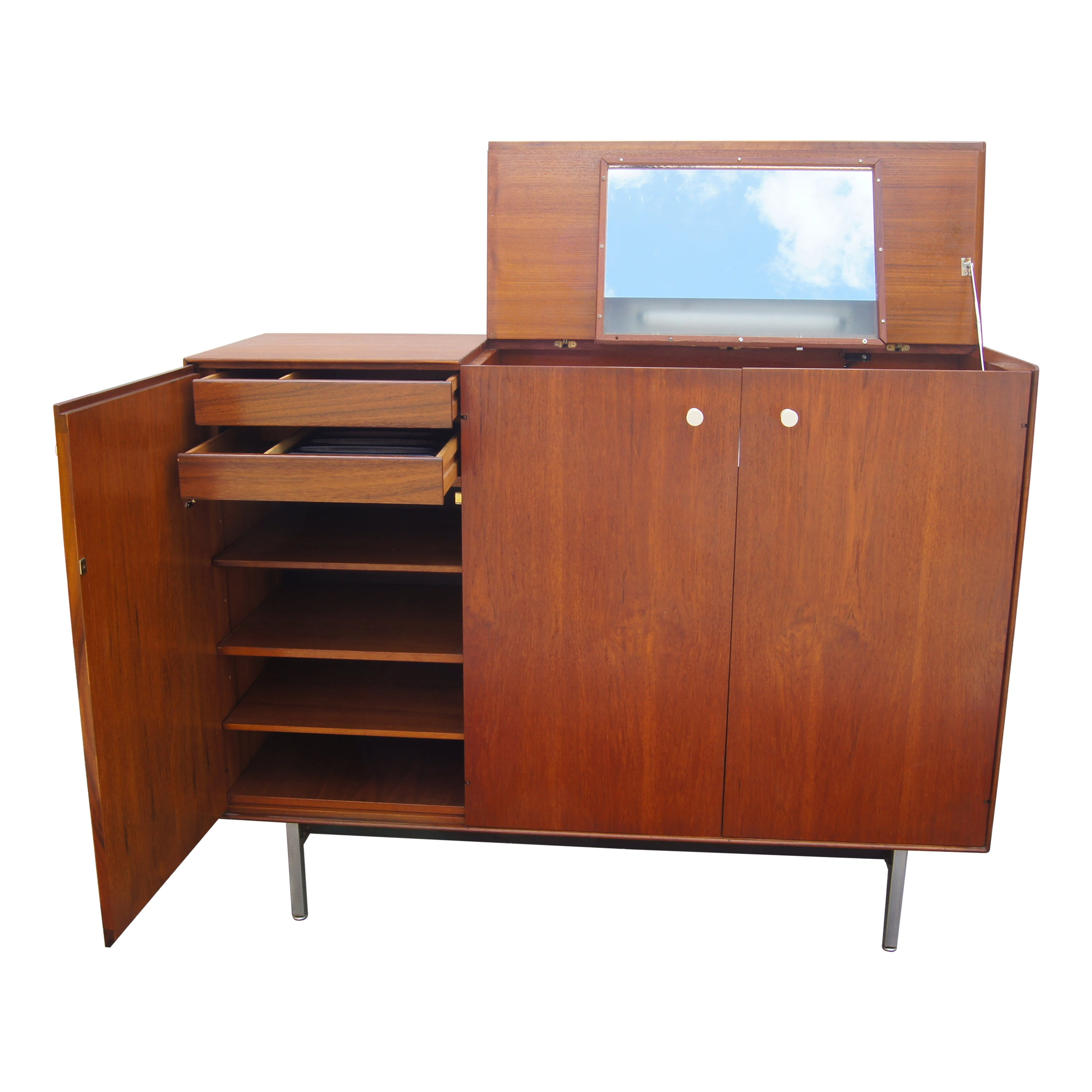 Thin Edge Walnut Gentleman's Chest by George Nelson for Herman Miller