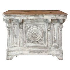 19th Century French Neoclassical Painted Bar or Counter