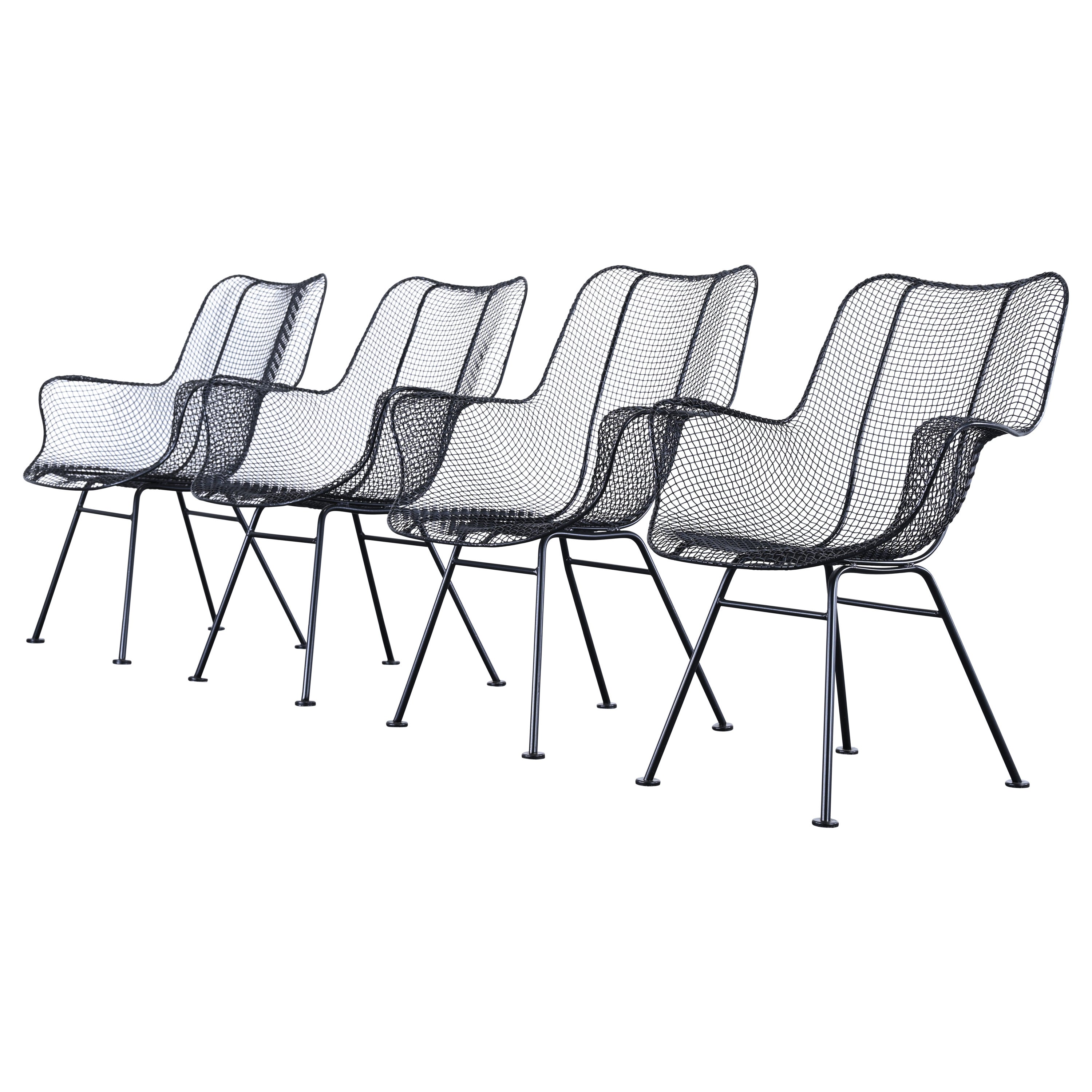 """Set of Four """"Sculptura"""" Armchairs by Woodard, 1950s"""