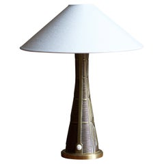 Sonja Katzin, Table Lamp, Brass, for ASEA, Sweden, 1950s