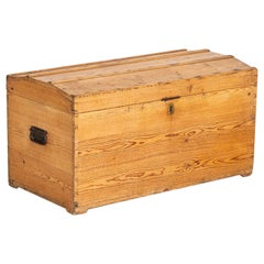 Antique Pine Small Trunk from Denmark