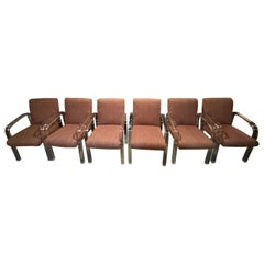 Set of 6 Mid-Century Dining Chairs in the Style of Charles Hollis Jones