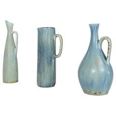 Mid-Century Modern Set of 3 Ceramic Pieces Carl Harry Stålhane, Sweden