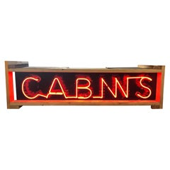 1930's Double Sided Cabin Neon Sign