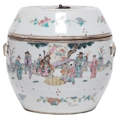 Chinese Famille Rose Soup Tureen with Courtly Gathering, c. 1900