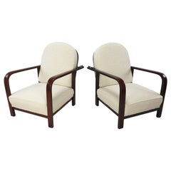 Pair of Adjustable Lounge Chairs by Thonet, 1930's