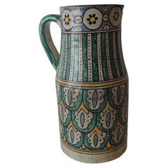 Hand Painted Round Spanish Ceramic Decorative Vase