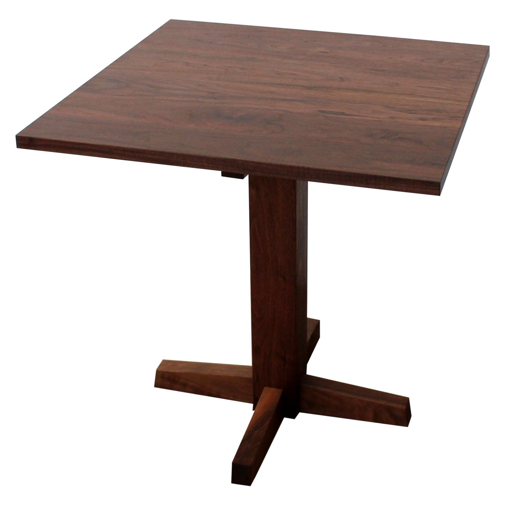 Little Dume Pedestal Table in Walnut
