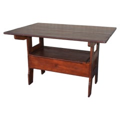 19Thc Lift Top Table From New England