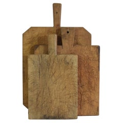 Collection of Three Rare French, 19th Century, Wooden Chopping or Cutting Boards