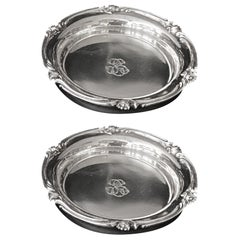 Set of 2 Old Christofle Coaster Silver Plated, circa 1880
