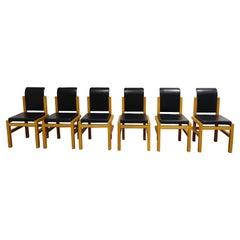 Solid Oak Dining Chairs Meubelatelier Vanda, 1970s, Belgium