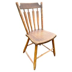 19th Century Antique Arrow Back Windsor Wood Accent Dining Side Chair