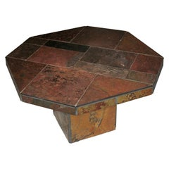 Mid-Century Modern Slate Stone Coffee Table Attributed to Paul Kingma