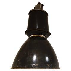 Large Industrial Enamel Lamps, 1950s