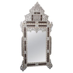 Levantine Mother of Pearl Inlaid Antique Middle Eastern Mirror