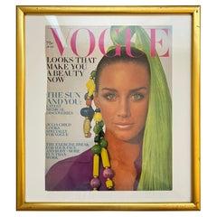 Vogue Magazine June 1969 Issue Framed Cover