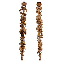 Pair of Wood Carvings After Grinling Gibbons