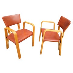 Thonet Bentwood Armchairs, a Pair