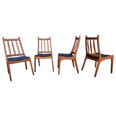 Jensen & Son Teak Danish Dining Chairs, Set 4
