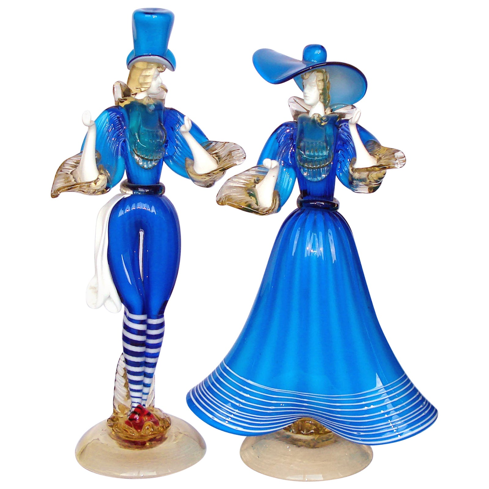 Gorgeous Pair of Murano Glass Dancing Couple